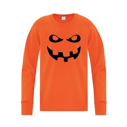 Youth Pumpkin Long Sleeve Tee