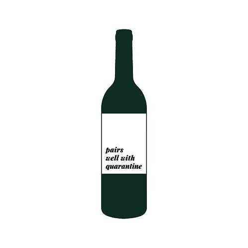 Quarantine Wine Label