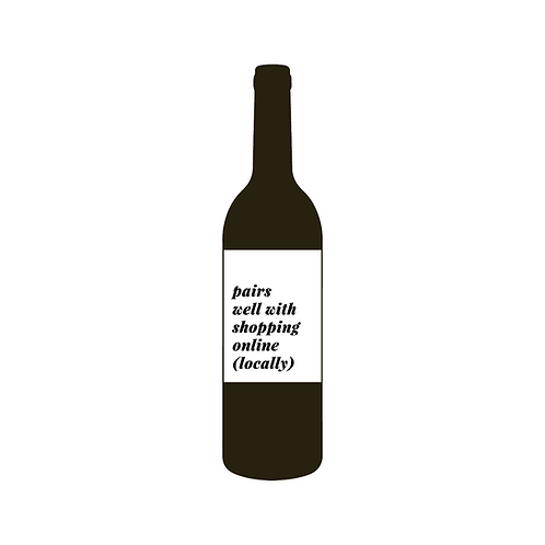 Local Shopping Wine Label