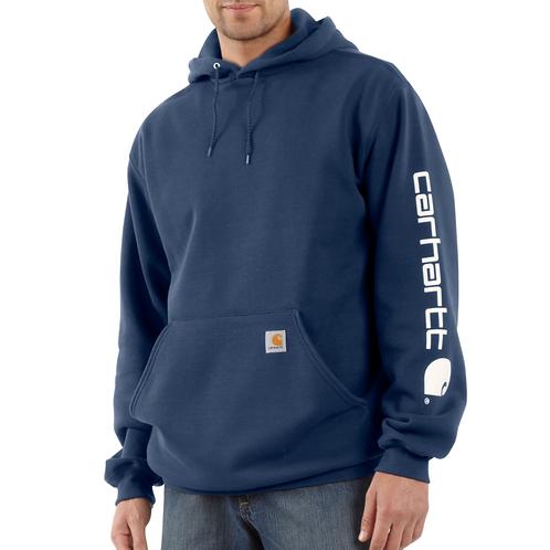 Carhartt Midweight Signature Sleeve Logo Hooded Sweatshirt