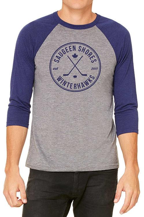 Winter Sticks Baseball Tee