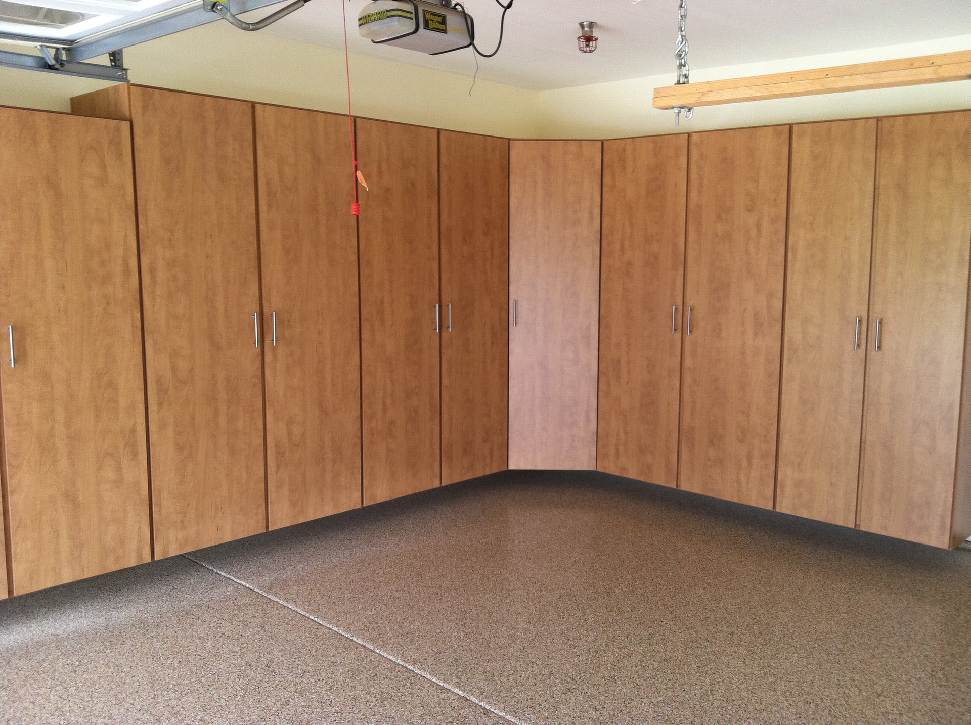 Corner Garage Cabinet, Oceanside