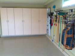 Garage Cabinets and Grid, Del Mar