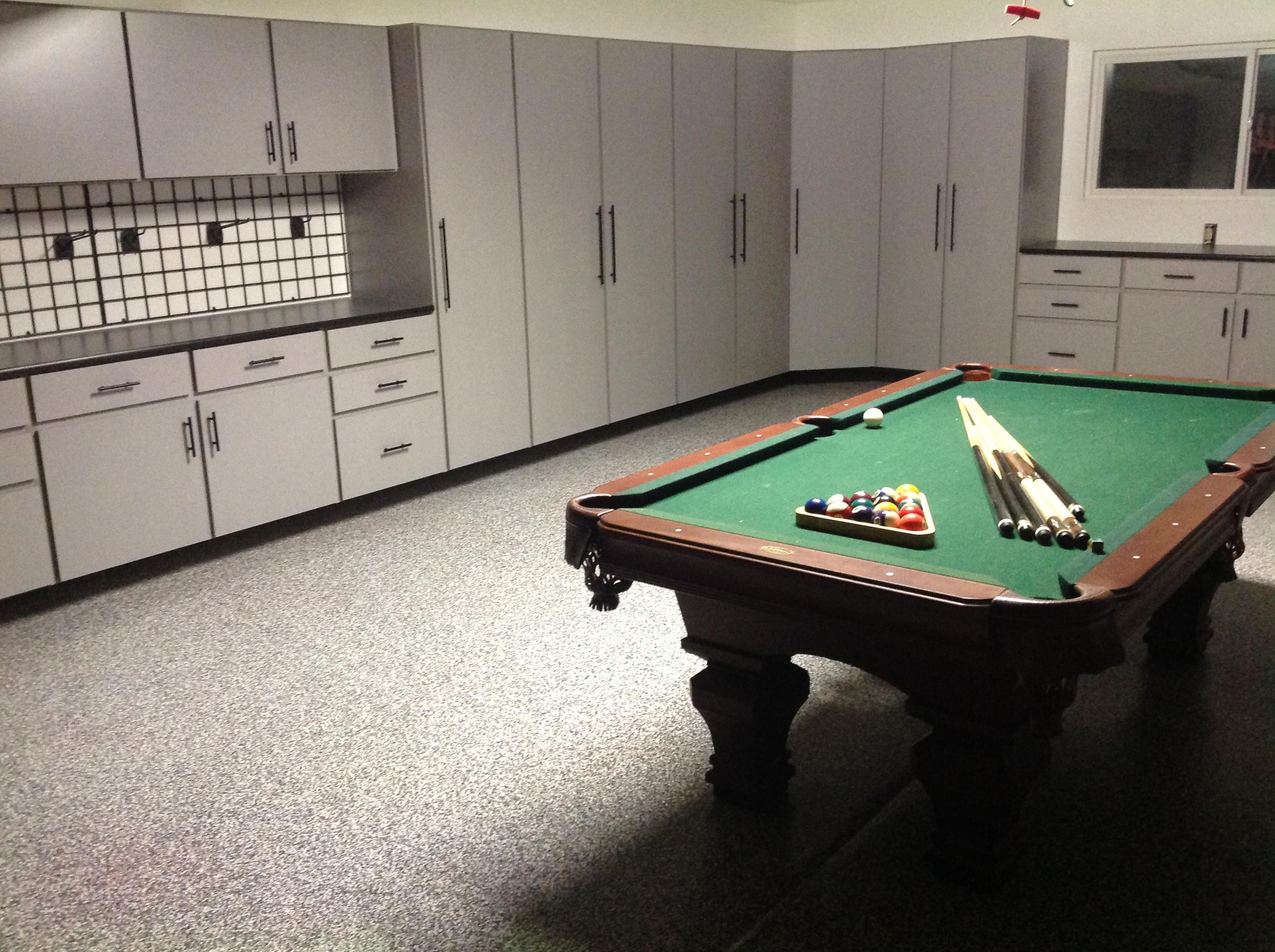 Garage Epoxy & Garage Cabinets