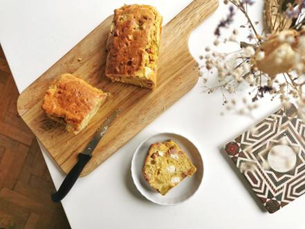 Cake salé : courgette/feta/lardon