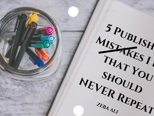 5 Publishing Mistakes I did that You should NEVER Repeat!