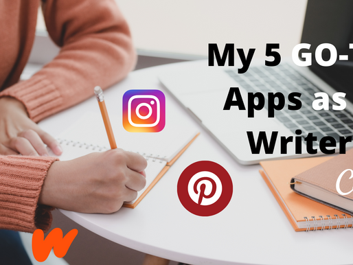 My 5 GO TO Apps as a Writer