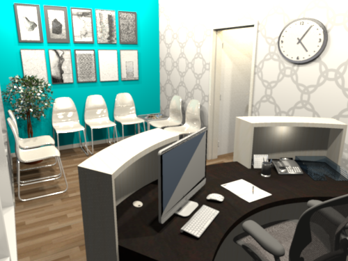 centre medical_salle d'attente_3D