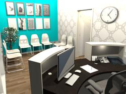 centre medical_salle d'attente_3D