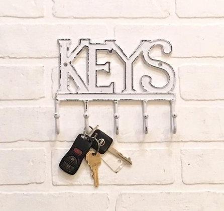 Keys Hooks, Key Holder, Decorative Hooks, Key Holders, Entryway Hooks, Key Hook, Shabby Chic Hook, The Shabby Store, Vintage