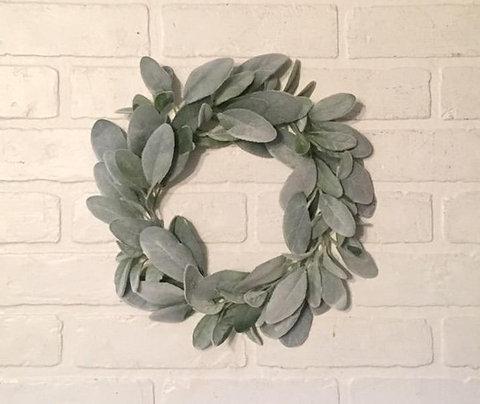 "12"" Lambs Ear Wreath"