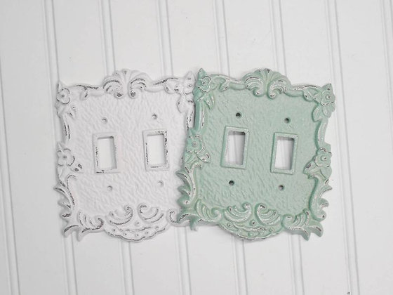 Light Switch Cover, Light Switch Plates, Outlet Covers, Plug Cover, Shabby Chic, Switchplate, Outlet Plate Covers, The Shabby