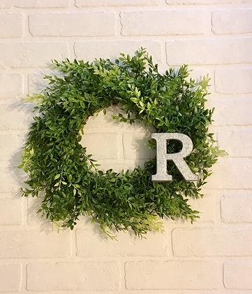 "Personalized 15"" Green Beauty Wreath"