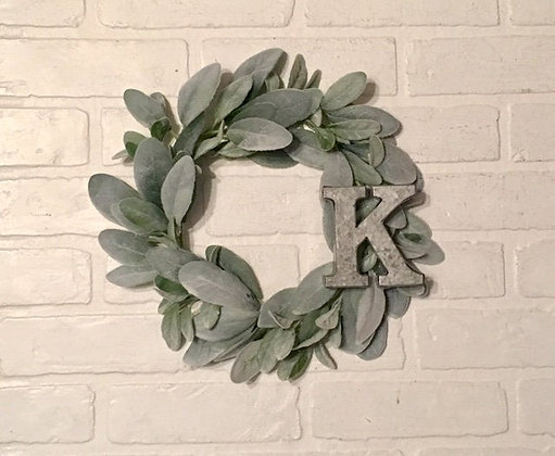 Wreaths, Wreath, Lambs Ear Wreath, Mini Wreath, The Shabby Store, Farmhouse Wreath, Green Wreath, Green Wreath, French Countr