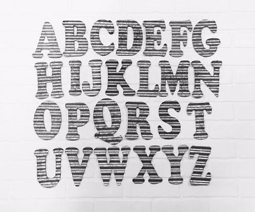 Metal Letters, Corrugated Metal Letters, Galvanized Letters, Small Metal Letters, Corrugated Letters, Corrugated Metal, Metal