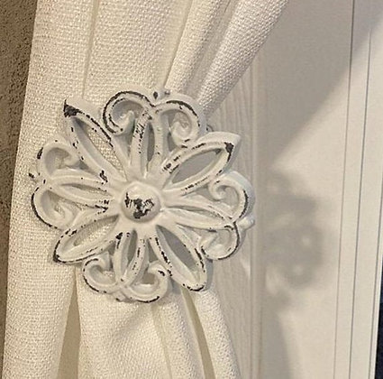 Curtain Holdback, Curtain Tiebacks, Holdbacks, Tie Backs, The Shabby Store, Tiebacks, Wall Hook, Window Treatments, Curtain H