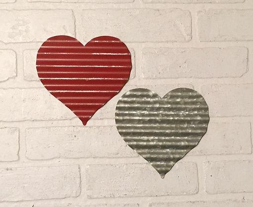 Corrugated Metal Heart