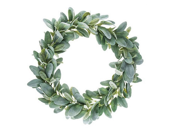 "Wreath, Farmhouse Wreath, 22"" Lambs Ear Wreath, Door Wreath, The Shabby Store, Farmhouse Wreath, Green Wreath, Green Wreath,"