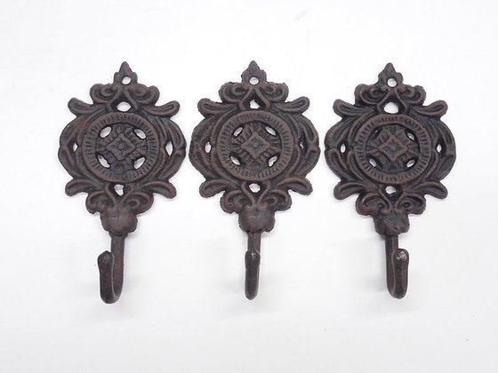 Cast Iron Brown Shabby Chic Wall Hook