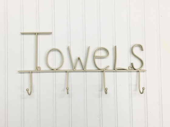 Towel Holder, Towel Rack, Towel Hooks, Bath Wall Décor, Shabby Chic Bathroom, Towel Holder For Pool, Wall Hooks, Wall Rack, T