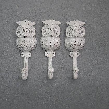 Owl Hook, Coat Hook, The Shabby Store, Animal Hook, Vintage Hook, Towel Hook, Nursery Wall Decor, Wall Hook, Owls