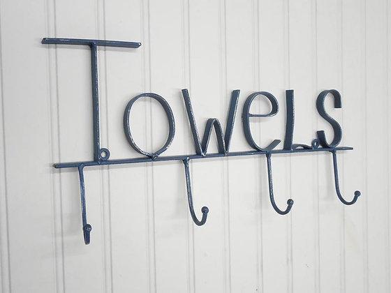 Towel Holder, Towel Rack, Towel Hooks, Bath Wall Décor, Shabby Chic Bathroom, Towel Holder For Pool, Wall Hooks, Wall Rack, T