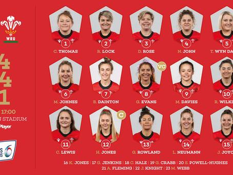 Wales Women's Team v Scotland.