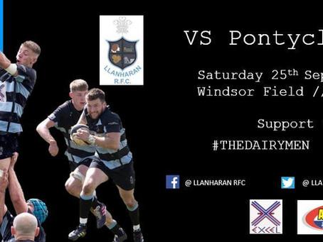 Final Score:Pontyclun 16 Llanharan 19