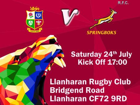 Lions @ Llanharan RFC