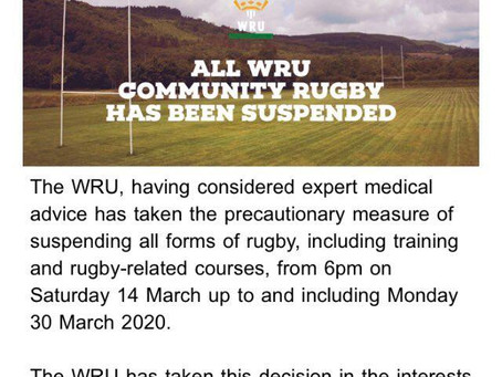 Community Rugby Suspended