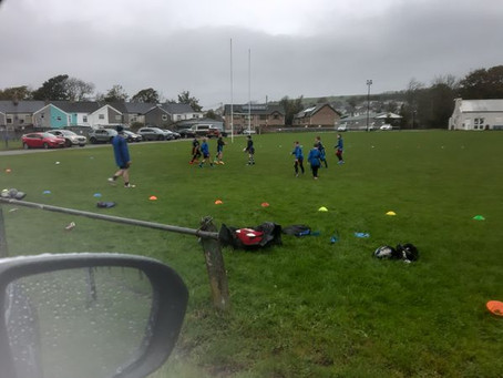 Under 8's Back in Training