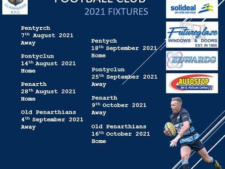 Senior Fixtures 2021