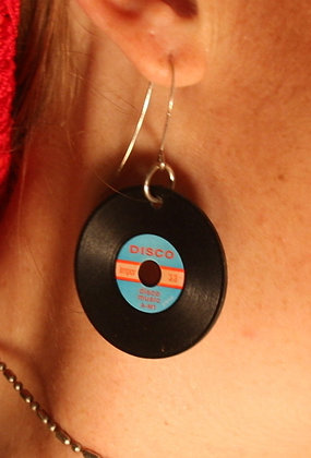 Disco Record Earrings