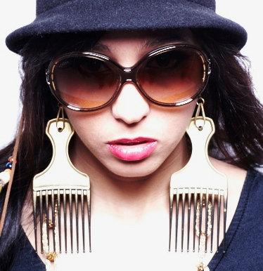 OsoLittle Afro Pick Earrings
