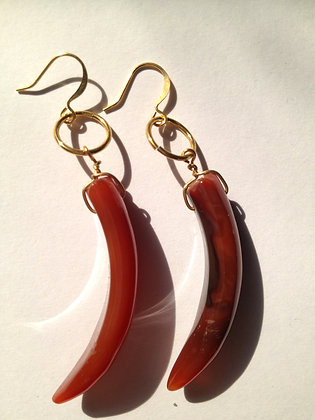 Stone Horn Earrings