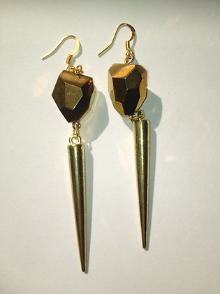Gem Spike Earrings