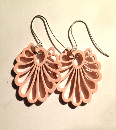 Pink Curve Earrings