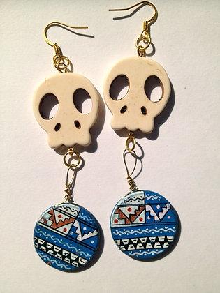 OsoMuertos Skull Earrings - Bone