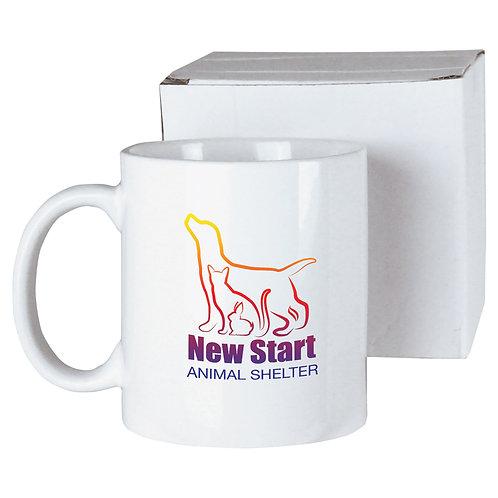 11 oz white ceramic sublimated mug