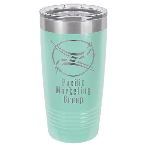 20 oz.Polar Camel Stainless Steel Ringed Neck Tumbler