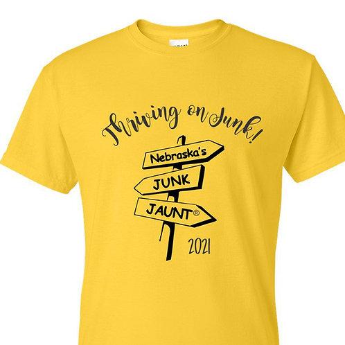 Official Junk Jaunt T-shirt 2021 - Adult sizes XS - 3XL