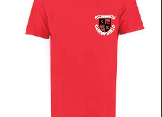 Llanvihangel Crucorney P.E. T-Shirt (RED)