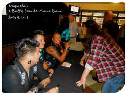 Meeting Buffie Sainte Marie Band