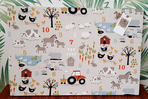 Farm Animals Children's Notice Board