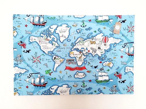 Children's World Treasure Pirate Map Board