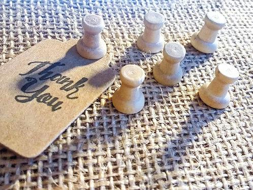 Wooden Push Pins