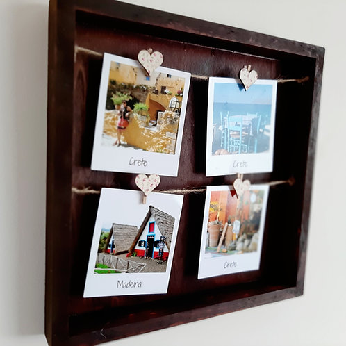Wooden Peg Polaroid Frame