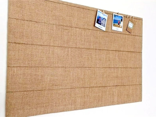 Peg and String Fabric Notice Board