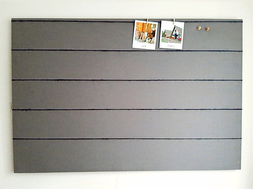 Peg and String Grey Fabric Notice Board