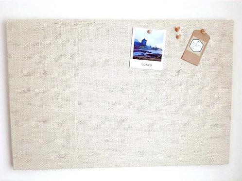 Cream Hessian Fabric Notice Board